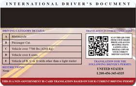 License Compass Traveler's Driver's International