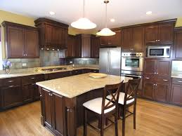 Granite Colors For Kitchen Dark Kitchen Cabinets With Light Granite Countertops Outofhome