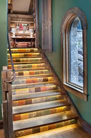 stair lighting ideas. Stair Lighting Ideas Staircase Rustic With Under Lights Rusted Handrail