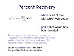 equation for percent recovery jennarocca