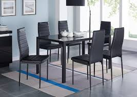 modern glass furniture. modren glass modern glass 7 piece dining table set and furniture l