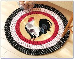 rooster rugs for the kitchen design print washable