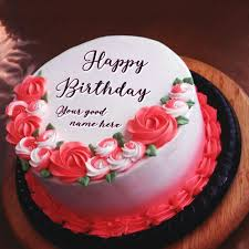 Mix Birthday Cake With Name For Husband