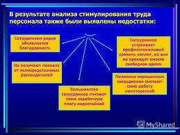 Презентация на тему Совершенствование стимулирования труда в  5 Достоинства стимулирования труда