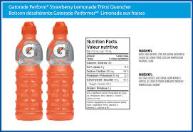 gatorade perform strawberry lemonade thirst quencher