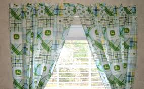 John Deere Kitchen Curtains John Deere Curtains Plaid Panels Free Shipping