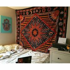 multicolor celestial sun moon planets tapestry wall hanging throw bedspread bedding