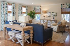 Blue and Beige Living Room