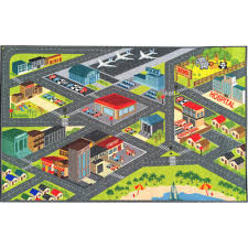 kc cubs multi color kids and children bedroom and playroom road map educational learning and