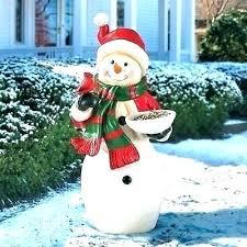 snowman yard decoration outdoor statue cardinal holiday decor . Snowman Yard Decoration Led Outdoor Ideas