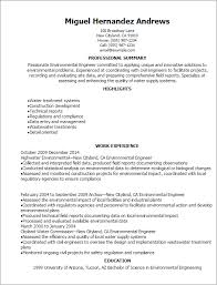 Resume Templates: Environmental Engineer Resume