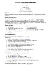 Secretary Resume Example Template Template resume example