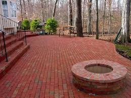 red brick patio amazing viewing album with a fire pit inside 15 brick patios with fire pit44 pit