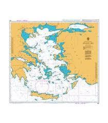 British Admiralty Nautical Chart 180 Aegean Sea