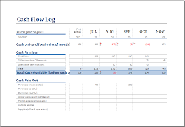 cash log template cash flow log template for excel excel templates