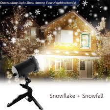 Christmas Night Light Show Christmas Projector Light Kmashi Snowflake Projector Light Snowfall Light Fairy Light Show Waterproof Rotating Spotlight Projection For Christmas