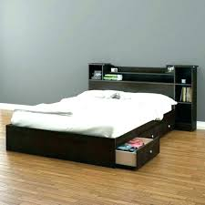 Queen Size Bed Frame With Drawers Bed Frames Cherry Wooden King Size ...