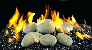 fireplace stones rocks gas rock glass home depot