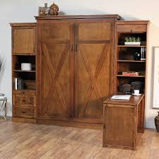 keystone murphy bed in cognac stain is