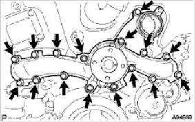 lexus is how to replace water pump clublexus figure 16 water pump assembly