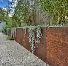 corten steel retaining wall