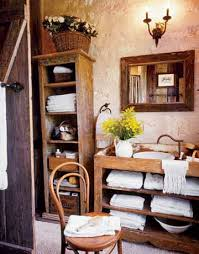 country themed reclaimed wood bathroom storage:  eadeadd country bathroom  de