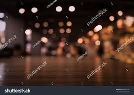 restaurant table top lighting. Empty Wood Table Top On Blur Light Gold Bokeh Of Cafe Restaurant In Dark Background/ Lighting