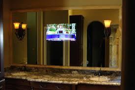 Bathroom Tv Mirrorlighted Mirrors Tv Behind Mirror Bathroom Diy