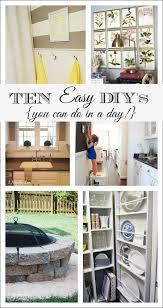 ten easy diys you can do in a