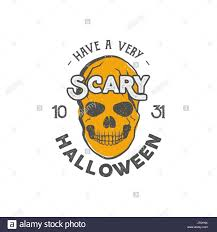 Halloween Party Label Template With Skull And Typography Elements