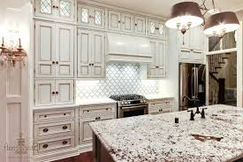 gray accents and glass pendant lights ideas with white cabinets dark grey tile flooring decor idea brown brick pictures of granite countertops backsplash