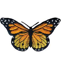 "Wrights <b>Iron</b>-On Appliques -Monarch <b>Butterfly</b> 3""X1-3/4"" 1/Pkg 