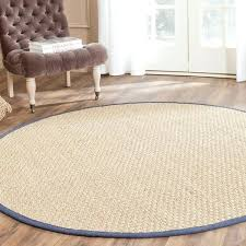 round seagrass rug casual natural fiber natural and blue border rug x seagrass rug tiles