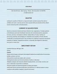 Free Download Sample Professional Chemist Resume Samples For Ms Word