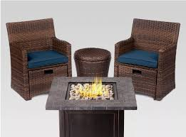 halsted 5pc wicker small space patio