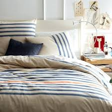 blue striped quilt cover west elm yellow stripe duvet cover blue striped duvet covers
