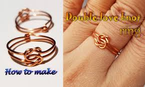 double love knot ring handmade jewelry for men and women 415