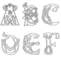 Medieval Illuminated Letters Coloring Pages Color Bros