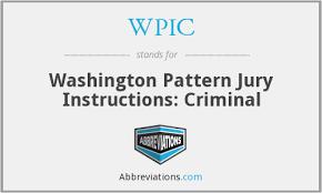 Washington Pattern Jury Instructions