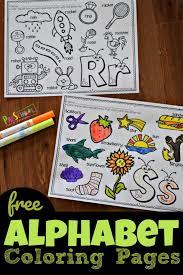Enjoy these free, printable alphabet coloring pages! Free Alphabet Coloring Pages