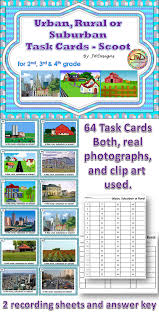 Rural, Urban, Suburban Task Cards - A Community Unit Suppliment ...