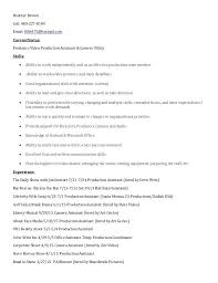 Video Production Specialist Sample Resume reflectionpointewpcontentuploads100100 73