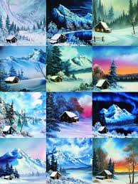 paintings by bob ross featured on pbs s the joy of painting