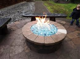 image of fire pit glass diy propane gas