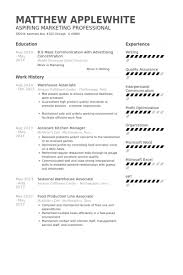 Warehouse Resume Mesmerizing Warehouse Associate Resume samples VisualCV resume samples database