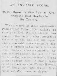 Wesley Howell - Bowling Record - Newspapers.com