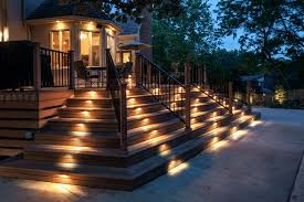 deck accent lighting. Solar Landscape Lights Lowes Beautiful Led Step Rectangular Deck Accent Light W Frosted Lighting P