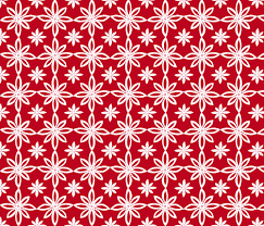 Pattern With 2 Flowers in Red and White fabric by martaharvey on  Spoonflower - custom fabric