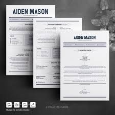 Cv Resume Template Word 2 Page Resume Template Modern Resume