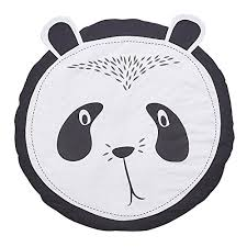 ahzzy baby nursery round rugs cute panda design home decor area rugs bedroom living room carpet baby crawling mats kids play machine washable cotton